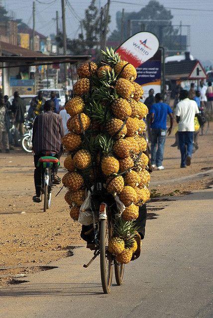 Pineapple bike :) by gipukan (rob gipman), via Flickr Uganda