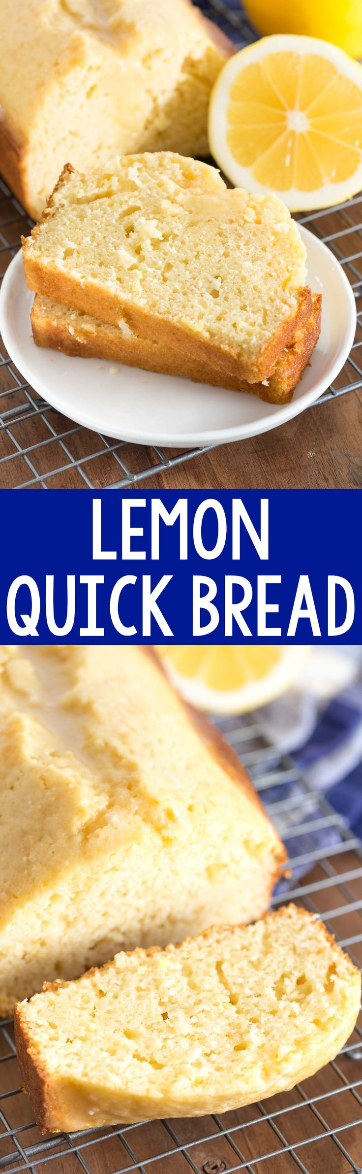Lemon Quick Bread - this easy quick bread recipe is bursting with lemon flavor. It's great for dessert or breakfast - with or without a lemon glaze!