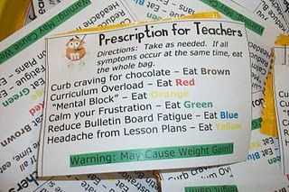 So Cute!!                                                                           Attach to little bags of M&M;'s to share with fellow teachers