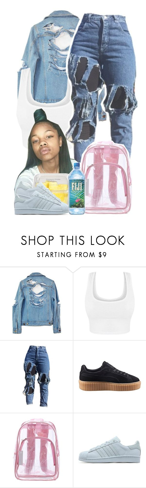 """F I G I 💦"" by s0-childish ❤ liked on Polyvore featuring High Heels Suicide, Puma and adidas Originals"