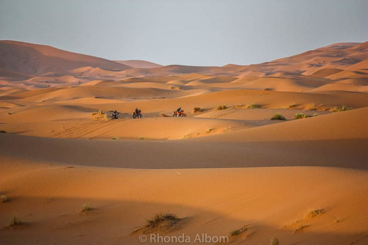 Colors of the Sahara desert in Morocco