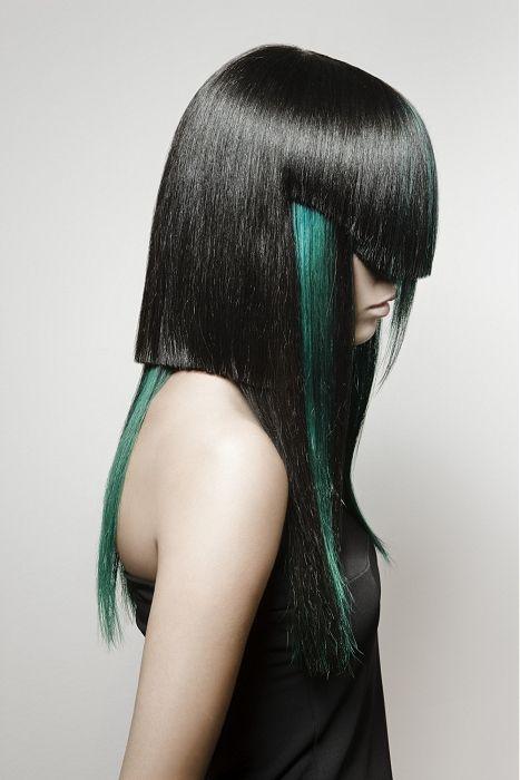 Cyberpunk hair. #futuristic