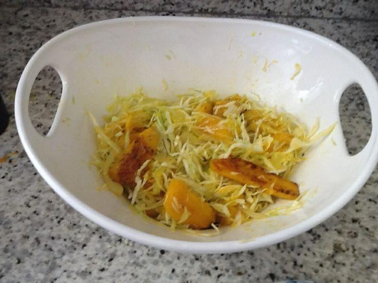 Salada Picante de Manga Grelhada