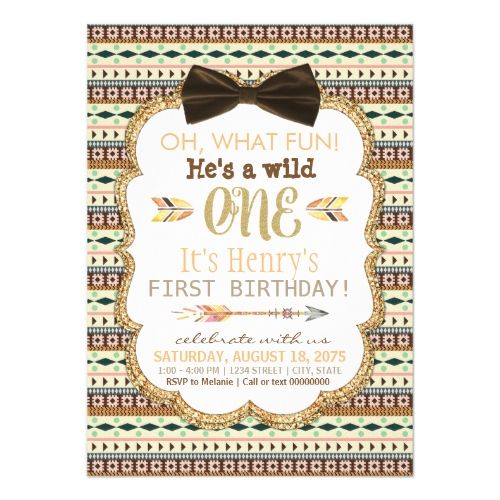 120 best boys 1st birthday party invitations images on pinterest boys 1st birthday party boys tribal first birthday party invitation stopboris Gallery