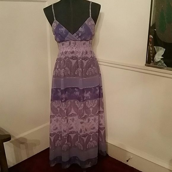 Long dress Purple, lavender and silver summer dress Dresses