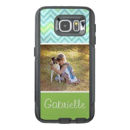 Custom Artsy Modern Trendy Hip Zig Zag Pattern OtterBox Samsung Galaxy S6 Case - photography picture cyo special diy