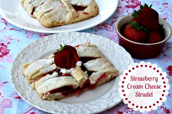 Mommy's Kitchen - Old Fashioned & Southern Style Cooking: Strawberry Cream Cheese Strudel {Made with Truvia Baking Blend}