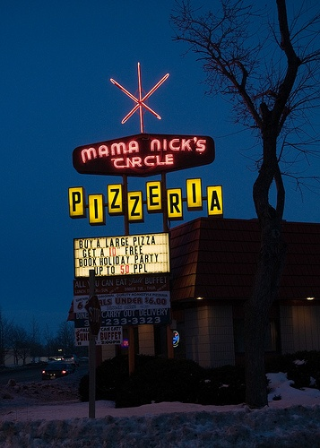 Mama Nick's Vintage Neon Atomic Sign