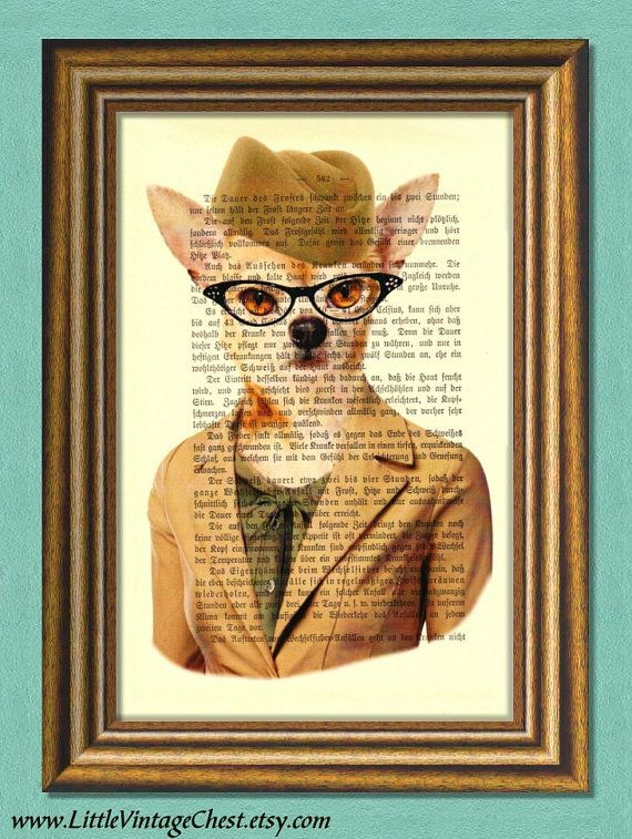 CHIHUAHUA LADY  Dictionary Art Print  Wall by littlevintagechest, $7.99