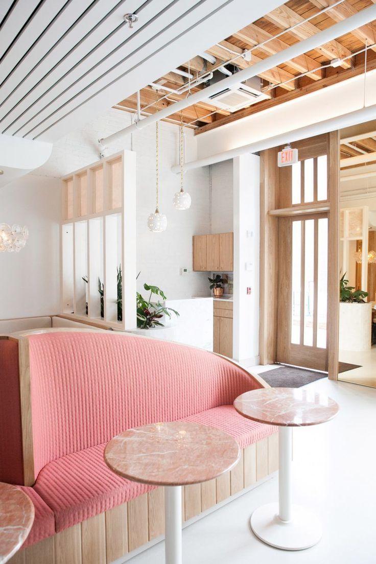 Modern vip room restaurant decor with plants