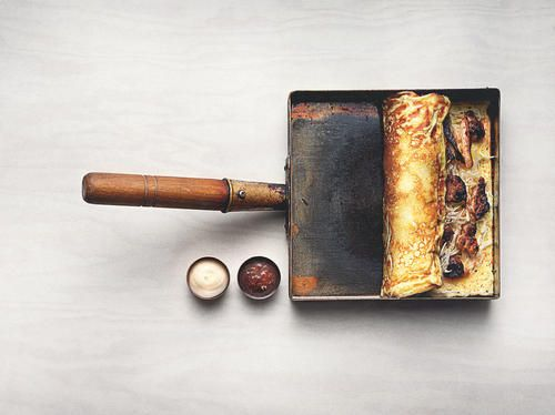 "Japansk omelett ""okonomiyaki"""