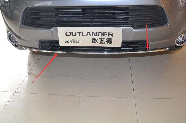 Car front grille trim auto grille decoration cover for  mitsubishi outlander 2013 2014 2015,abs chrome