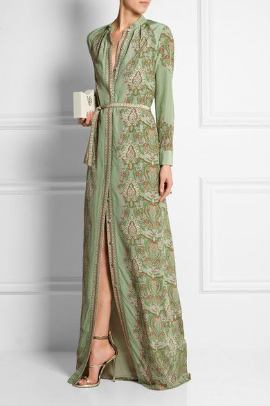 Vilshenko | Maxine printed silk gown | NET-A-PORTER.COM