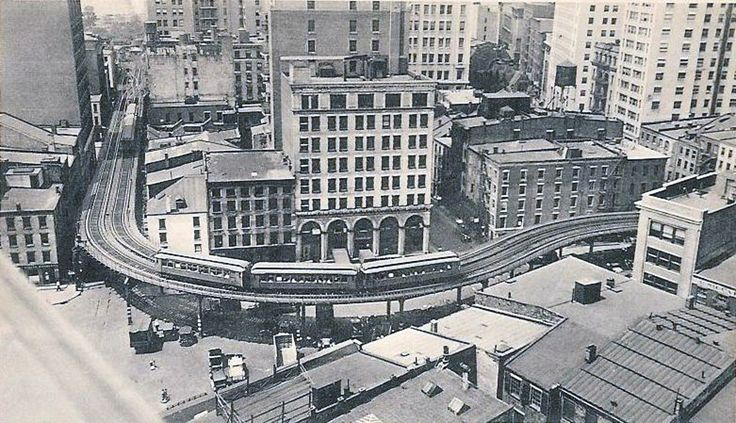 Post Card View Of A South Bound 3rd Ave El Train On Front