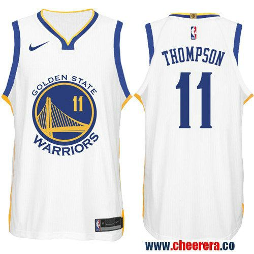 newest collection a7d62 183ce Nike NBA Golden State Warriors #11 Klay Thompson Jersey 2017 ...