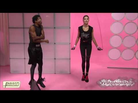 Adriana Lima! Jumprope, boxing workout. I'm glad to see she really is strong physically and dedicated.