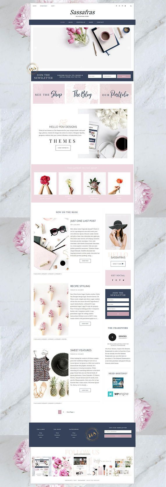 SALE Feminine Wordpress Theme for Creative Entrepreneurs