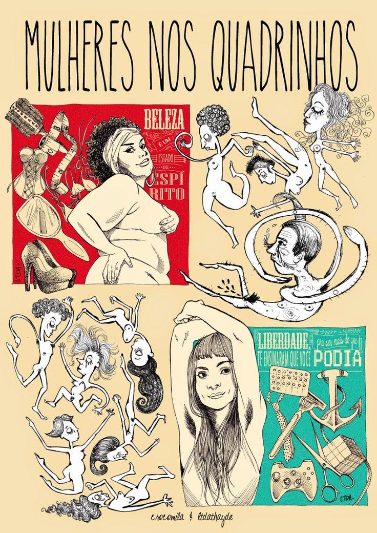 um dia ainda viro cartunista: Mulheres Nos Quadrinhos - O Livro