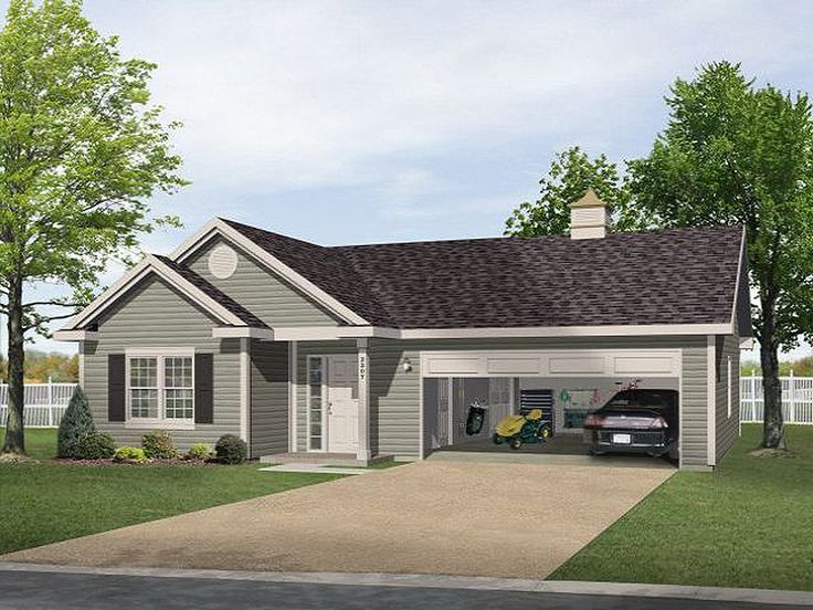 Plan 2225SL: One Story Garage Apartment