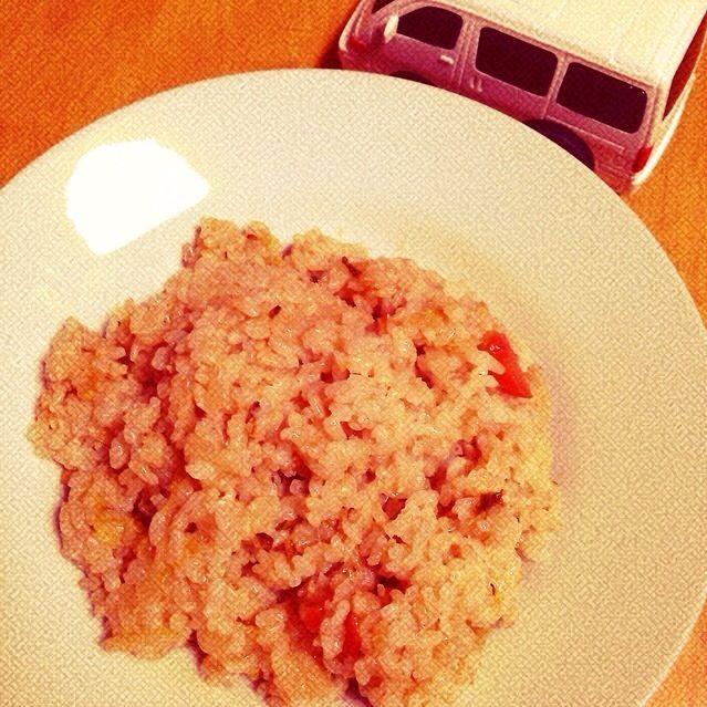 これは前日の味噌汁と同じ具材です(^^;;  いつもの朝ごはん。 - 5件のもぐもぐ - お野菜の玄米チャーハン by cocoshiro