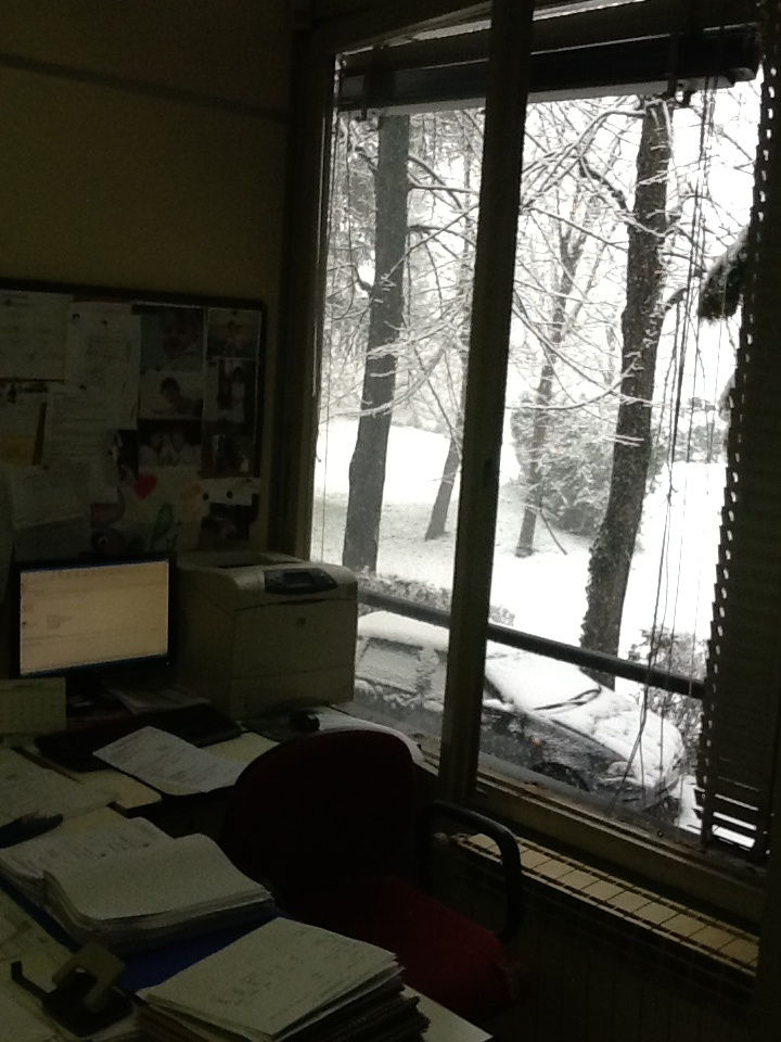 Ufficio con vista sul parco innevato!