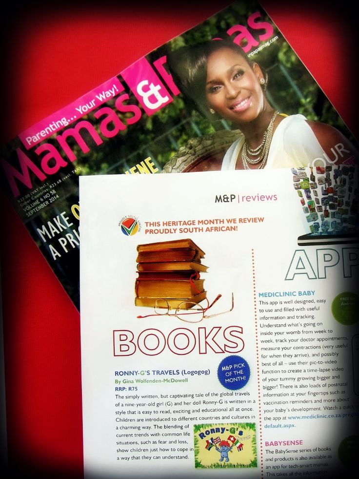 """Thrilled to bits with the lovely """"Ronny-G's Travels"""" book review in the September 2014 issue of Mamas & Papas Magazine."""