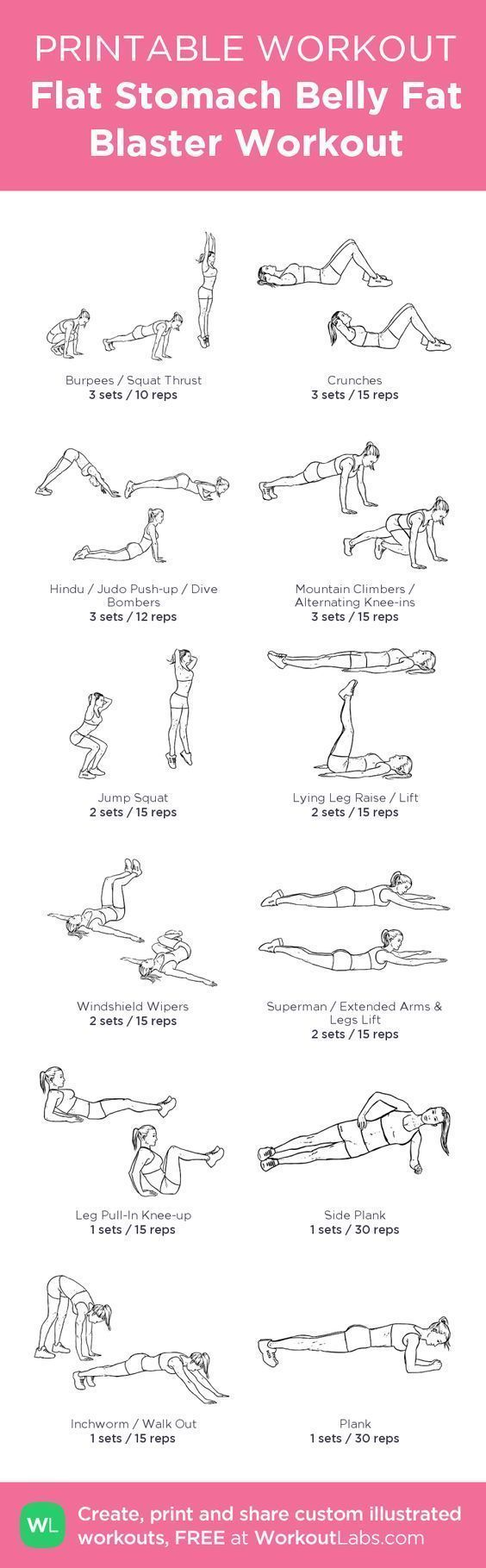Flat Stomach Belly Fat Blaster No Equipment Workout for Women – Free beginner printable workout you can do at home without weights today! Visit http://wlabs.me/1pirVdg # vegetables for weight loss # best diet to lose weight in 2 weeks