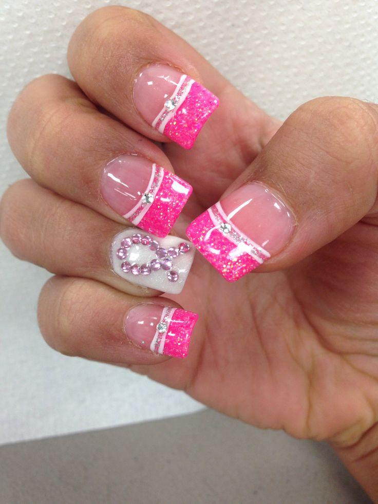 Brustkrebs-Bewusstseins-Monat #boobies #pink #breastcancer #ribbon   – Nails
