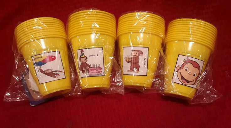 Curious George Cups, Birthday party