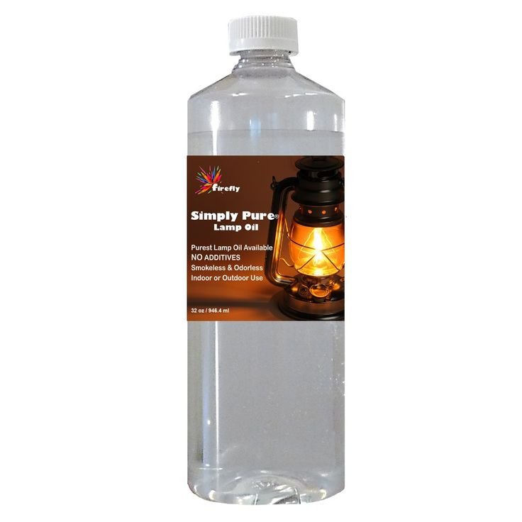 Firefly Candle and Lamp Oil - 32 oz - Smokeless & Odorless - Simply Pure - Ultra Clean Burning - Liquid Paraffin Fuel - Highest Purity Available