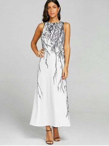 4f000f14cf0a Branch Print Long Prom Dress Cheap Maxi Dresses