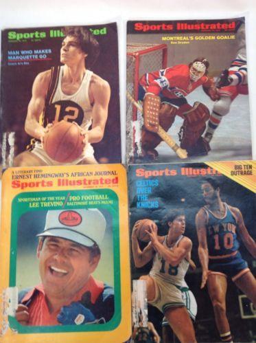 Vintage SPORTS ILUSTRATED Lot 4 1971 1972 Montreal Celtics Trevino Marquette