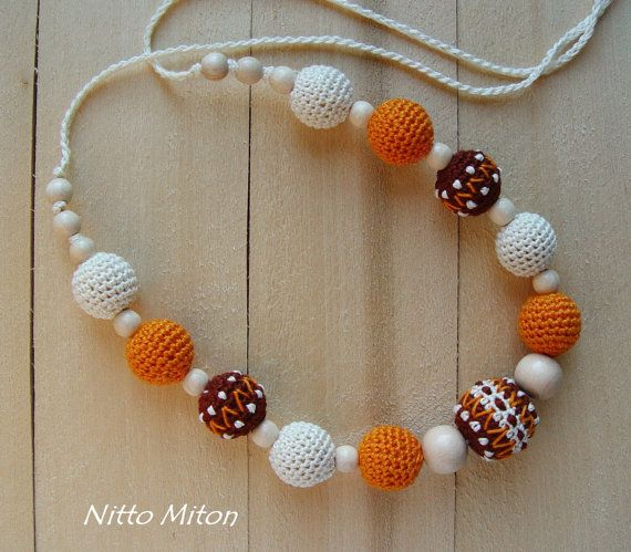 Teething Nursing necklace Breastfeeding necklace for от NittoMiton