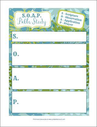 S.O.A.P. Bible Study Form Printable.
