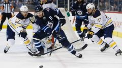 Jan.05 2018 - Jets extend point streak to five; beat Sabres Blake Wheeler and Jacob Trouba each had a goal and an assist as the Winnipeg Jets extended their point streak to five games with a 4-3 victory over the Buffalo Sabres Friday.Bryan Little, The Canadian Press