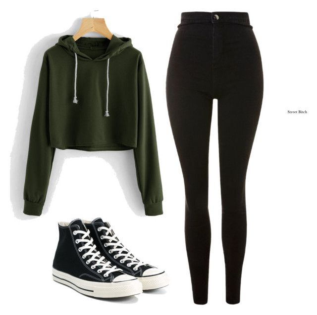 """"""""""" by ebbaulv on Polyvore featuring Topshop and Converse"""