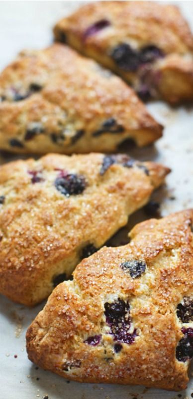 Bakery Style Blueberry Scones. Needs some things I don't have lying around all the time, like heavy cream