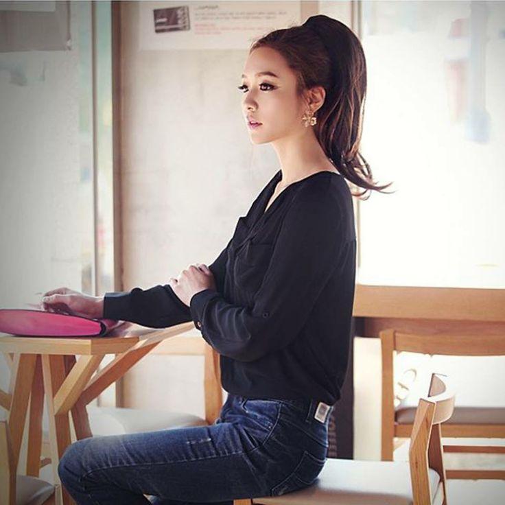 Camisa de algodón del estilo coreano - manga larga   Precio: $ 50.400 Talla: S M L Estilo: Casual