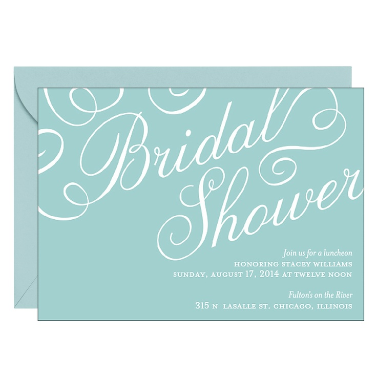 Script Bridal Shower Invitation