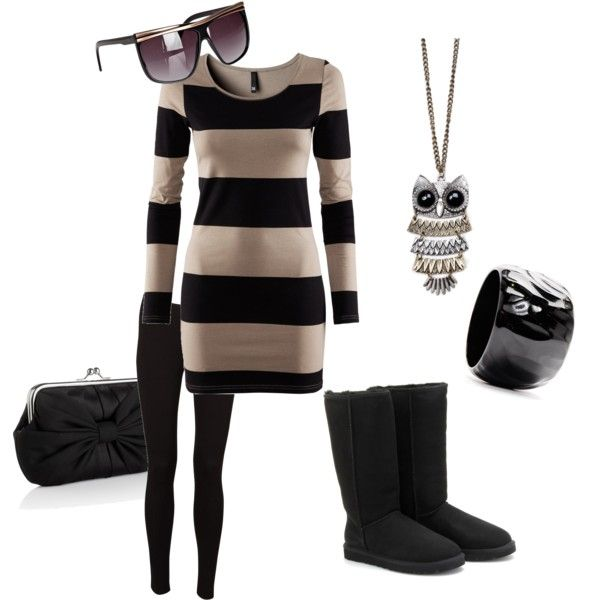 Black Uggs Created By Sljohn84 On Polyvore Uggs Outfit