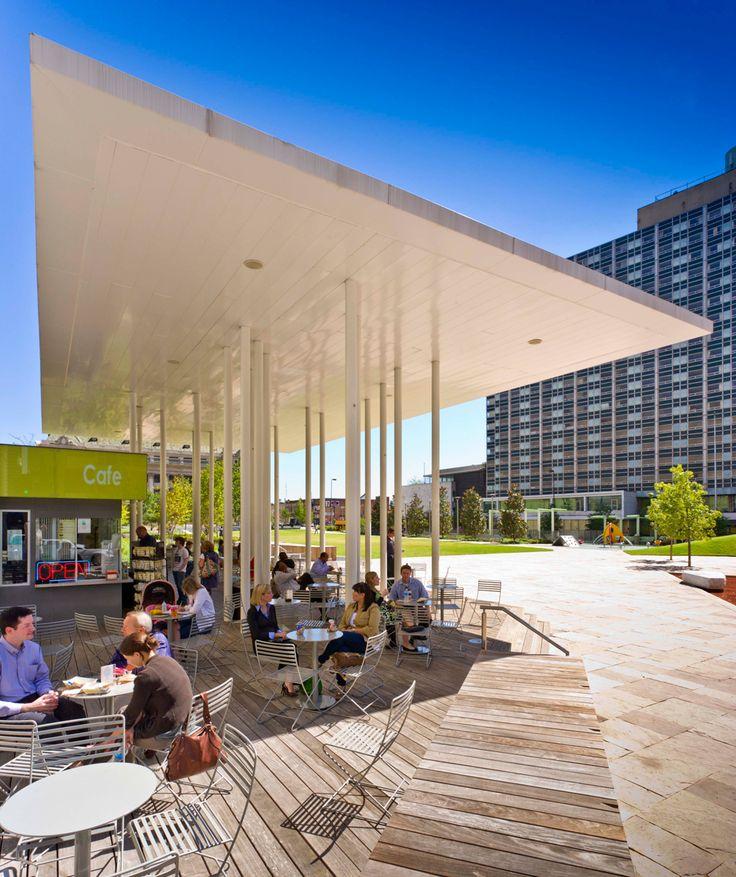 Main Street Garden Park designed by Thomas Balsley Associates #LandscapeArchitecture #LandArch #Dallas