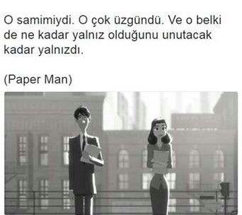 En güzel kısa film bu sanırım #PaperMan