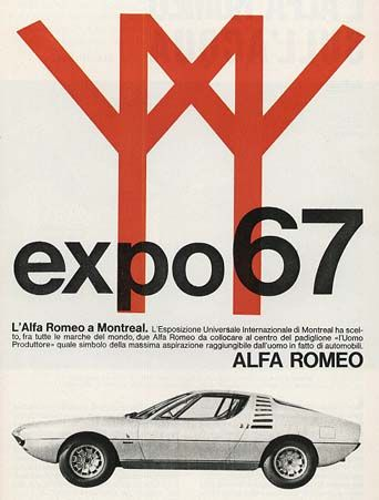 Alfa Romeo Expo 67 promotional poster, Montreal