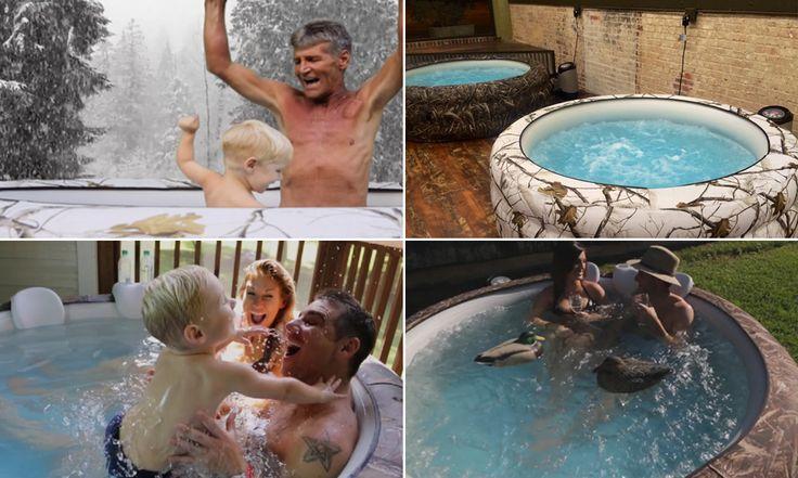 O ofurô portátil que oferece água a até 45 graus e 88 jatos de massagem é a verdadeira evolução da piscina infantil