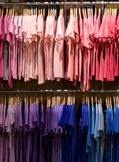 Organize closet by color storage pinterest colors for How to color organize your closet