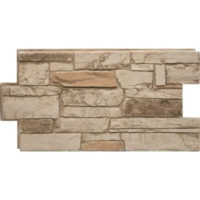 Urestone Ledgestone #35 Desert Tan 24 in. x 48 in. Stone Veneer Panel-DP2610-35 - The Home Depot