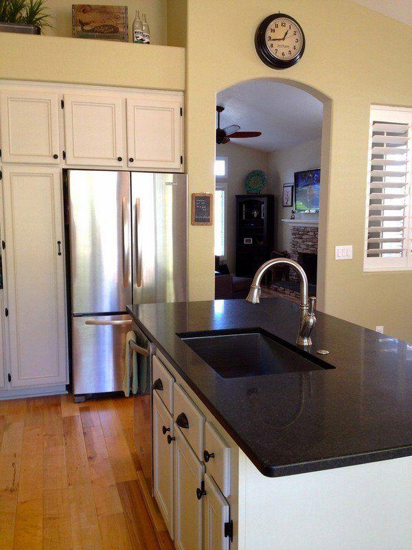Die besten 25+ schwarzer Granit Arbeitsplatten Ideen auf Pinterest - küche granit arbeitsplatte