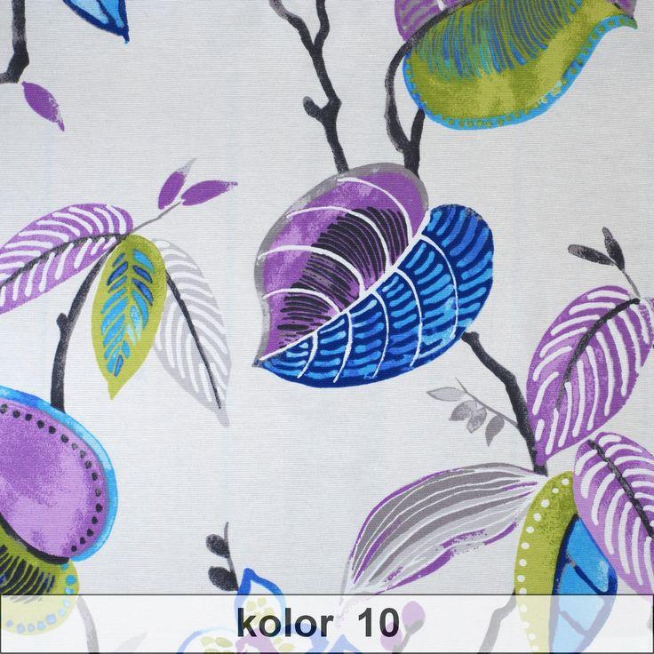 Tkanina - Flora Bogoty. Ciekawa propozycja do nowoczesnych wnętrz. Sprawdzi się w formie rolety rzymskiej, zasłony, narzuty na łóżko oraz poduszki.