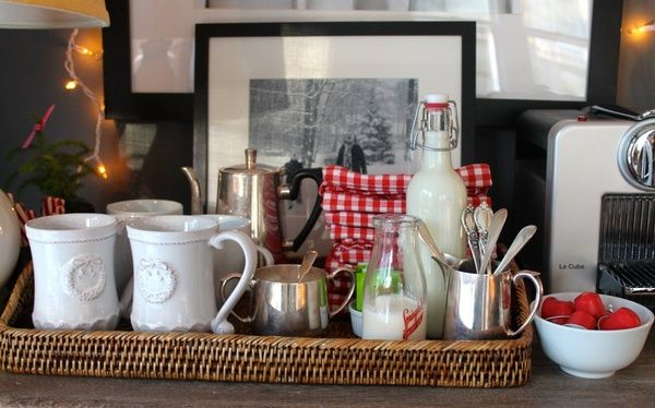 Lovely Things coffee station Eli Pinterest