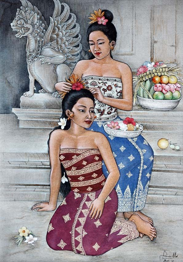 Made Suanda - Dua Gadis Bali (2 Balinese meisjes), 2007.